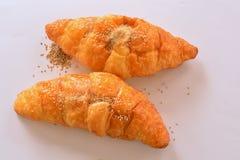 Pane, croissant Fotografie Stock Libere da Diritti