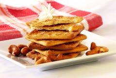 Pane crostoso (cracker) con l'anacardio Fotografia Stock