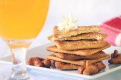 Pane crostoso (cracker) con l'anacardio Immagine Stock Libera da Diritti
