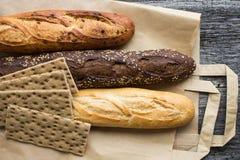 Pane dalla farina di frumento e della segale Immagine Stock