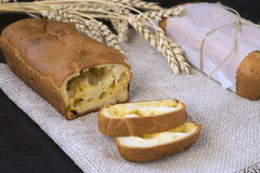 Pane del formaggio dello spuntino Fotografie Stock