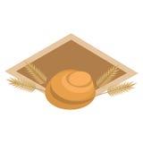 Pane del forno con l'etichetta della corona Immagini Stock Libere da Diritti