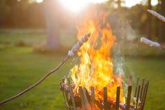 Pane del fuoco di accampamento Fotografia Stock Libera da Diritti