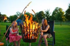 Pane del fuoco di accampamento Fotografia Stock