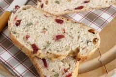 Pane del mirtillo rosso Fotografie Stock