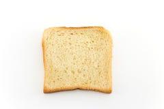 Pane del pane tostato su bianco Fotografie Stock