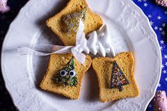 Pane della decorazione di Natale immagini stock libere da diritti