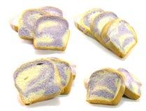Pane della fetta isolato su bianco immagine stock libera da diritti