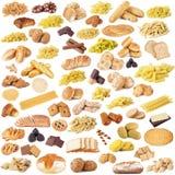 Pane della pasta e collage italiani dei biscotti Immagini Stock Libere da Diritti