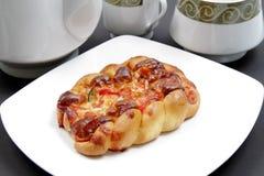 Pane della pizza di formaggio Immagine Stock