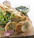 Pane di aglio Immagini Stock Libere da Diritti