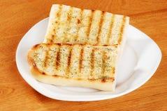 Pane di aglio con le erbe fotografie stock