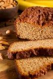 Pane di banana libero del glutine fotografie stock libere da diritti