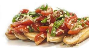 Pane di Bruchetta della verdura immagini stock libere da diritti