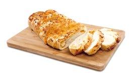Pane di cipolla e del formaggio affettato Fotografia Stock