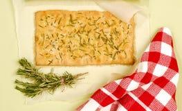 Pane di Focaccia Fotografia Stock