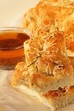 Pane di Focaccia con olio Fotografia Stock