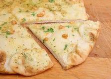 Pane di Foccacia dell'erba e dell'aglio Fotografia Stock Libera da Diritti