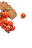 Pane di Frish con i pomodori cerry Fotografie Stock