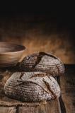 Pane di lievito naturale casalingo Immagine Stock
