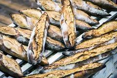 Pane di recente al forno e prodotti della panificazione sul forno Fotografia Stock Libera da Diritti