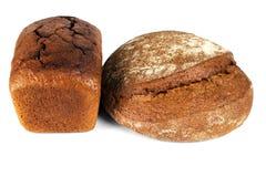 Pane di Rye isolato su priorità bassa bianca Fotografia Stock Libera da Diritti