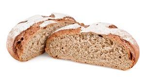 Pane di Rye tagliato dentro a metà Fotografie Stock