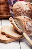 Pane di segale affettato Fotografie Stock