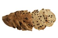 Pane di segale affettato con l'uva passa Fotografie Stock
