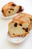 Pane dolce con l'uva passa Fotografia Stock Libera da Diritti