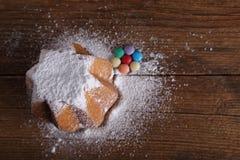 Pane dolce coperto di zucchero vellutato Fotografie Stock Libere da Diritti