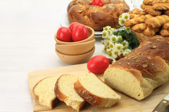 Pane dolce di Pasqua fotografie stock