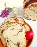 Pane dolce di Pasqua, cozonac immagini stock