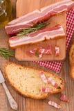 Pane e bacon fotografia stock libera da diritti