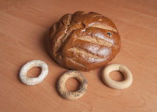 Pane e bagel Immagine Stock