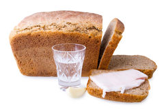 Pane e bevanda affettati Immagini Stock Libere da Diritti