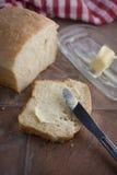 Pane e burro Immagini Stock