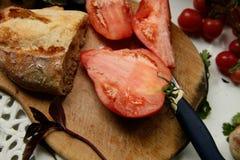 Pane e burro di dieta di Vegeterian Fotografie Stock