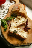 Pane e burro di dieta di Vegeterian Immagini Stock Libere da Diritti