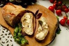 Pane e burro di dieta di Vegeterian Fotografia Stock