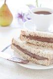 Pane e cioccolato Fotografia Stock Libera da Diritti