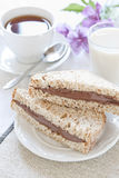 Pane e cioccolato Immagini Stock Libere da Diritti