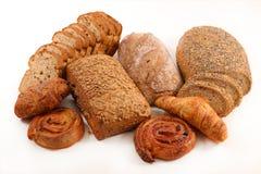 Pane e croissant fotografie stock