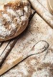 Pane e farina fotografia stock libera da diritti