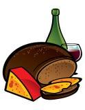 Pane e formaggio di Rye Immagine Stock