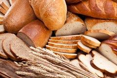 Pane e frumento Priorità bassa dell'alimento fotografia stock libera da diritti