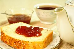 Pane e gelatina Fotografie Stock Libere da Diritti