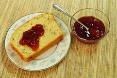 Pane e gelatina Fotografia Stock