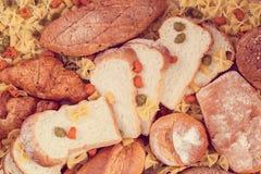 Pane e grani immagine stock