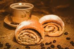 Pane e licenziare con il caffè Fotografie Stock